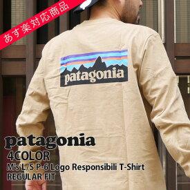 【14:00までのご注文で即日発送可能】 新品 パタゴニア Patagonia 19FW M's L/S P-6 Logo Responsibili T-Shirt ロゴ レスポンシビリ 長袖Tシャツ REGULAR FIT レギュラーフィット 39161 メンズ 2019FW 新作