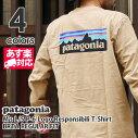 PatagoniaパタゴニアM'sL/SP-6LogoResponsibiliT-ShirtロゴレスポンシビリロングスリーブTシャツWHITEホワイトREGULARFITレギュラーフィット39161ロンTee長袖Tシャツ【新品】202001088030