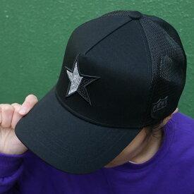新品 ヨシノリコタケ YOSHINORI KOTAKE x バーニーズ ニューヨーク BARNEYS NEWYORK STAR スパンコール MESH CAP キャップ BLACK ブラック メンズ 新作