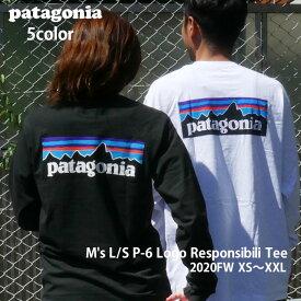 新品 パタゴニア Patagonia M's L/S P-6 Logo Responsibili Tee P-6ロゴ レスポンシビリ 長袖Tシャツ 38518 REGULAR FIT レギュラーフィット メンズ レディース 新作