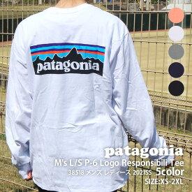 【14:00までのご注文で即日発送可能】 新品 パタゴニア Patagonia 21FW M's L/S P-6 Logo Responsibili Tee ロングスリーブ P-6ロゴ レスポンシビリ 長袖Tシャツ 38518 メンズ レディース 2021FW 21FA 新作