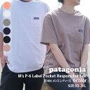 【14:00までのご注文で即日発送可能】新品 パタゴニア Patagonia 21SS M's P-6 Label Pocket Responsibili Tee P-6ラ…