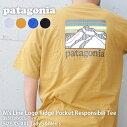 新品パタゴニアPatagonia21SSM'sLineLogoRidgePocketResponsibiliTeeラインロゴリッジポケットレスポンシビリTシャツ38511メンズレディース2021SS新作