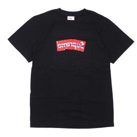 シュプリーム SUPREME x コムデギャルソン シャツ COMME des GARCONS SHIRT 17SSBox Logo Tee ボックスロゴ Tシャツ BLACK ブラック メンズ Sサイズ 【中古】 2017SS 104002088 (半袖Tシャツ)