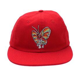 [期間限定10月25日までSUPREMEポイント5倍!]シュプリーム Supreme 16SS Gonz Butterfly 6-Panel Cap キャップ RED レッド メンズ レディース FREEサイズ 2016SS 334000413 【中古】 (ヘッドウェア)