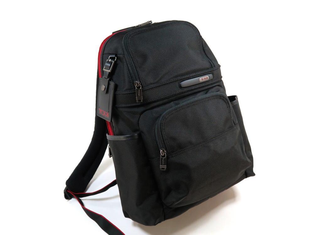 【TUMI】トゥミ 263162 Compact Backpack IDロック(個人情報保護) PC収納可能 バリスティックナイロン バックパック 474 黒 BLACK