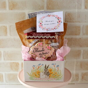 可愛い アイシングクッキー ギフト  プレゼント チョコクッキー 贈り物 お礼 焼き菓子 焼き菓子ギフト 可愛い入れ物 化粧箱