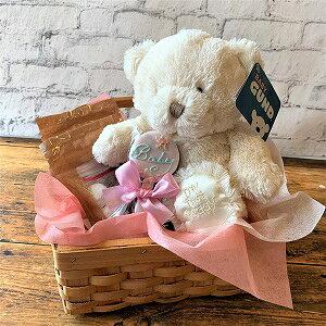 かご入りベビーギフト 赤ちゃん アイシングクッキー 可愛い 出産 焼き菓子 ギフト 美味しい 贈り物 ファーストベア ガンド GUND クマ
