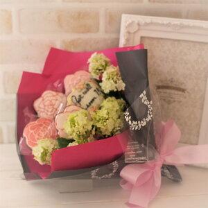 ローズクッキーブーケメッセージ入り アイシングクッキー ギフト 焼き菓子  プレゼント チョコクッキー 花束 バラ ブーケ オーダー