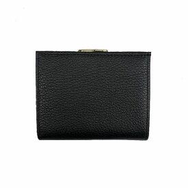 L LEATHER (エルレザー) レザー がま口 二つ折り財布