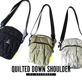 ショルダーバッグ ボディバッグ ウエストポーチ レディース メンズ キルティング ダウン 斜めがけ 大容量 bag カバン 鞄 アスレジャー アコモデ ユニセックス レジャー 旅行