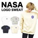トレーナー スウェット レディース メンズ ロゴ NASA ナサ プルオーバー ルームウェア リンクコーデ