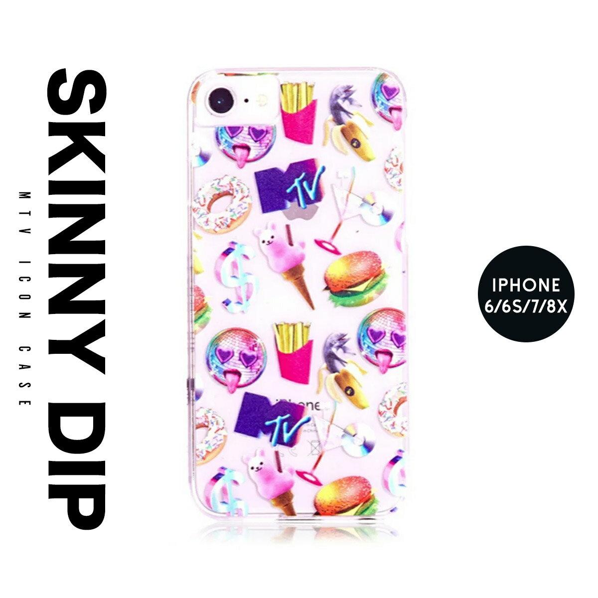 iPhone8 iPhone7 iPhone6 6s アイフォン カバー ケース MTV ロゴ skinnydip スキニーディップ emoji 絵文字 スマートフォン スマホ メール便 送料無料