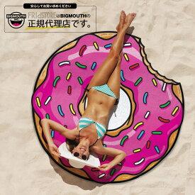 ラウンドタオル 大判ビーチラグ ドーナツ BIGMOUTH ビッグマウス ビーチ THE BEACH PEOPLE 海 フェス ヨガマット ブランケット インポート アメリカ セール