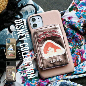 ディズニー スマホケース iPhone11 iPhoneXR ケース カバー レディース アコモデ フラップ カード ディズニー ブランド ティンカーベル アリス アリエル 可愛い プレゼント ギフト メール便 送料