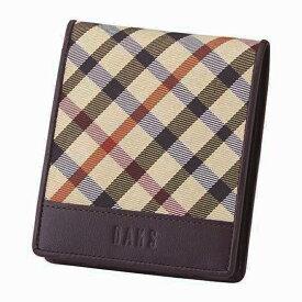 DAKS ダックス 札入 ハウスチェック DP36195 【メンズ/ブランド/二つ折り/財布/茶/ブラウン/ギフト】