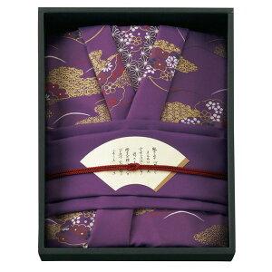 彩美きもの姿 ふろしき・ふくさセット 1501(紫パープル)  風呂敷70cm・袱紗ギフト