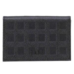 DAKS ダックス スクエア型押し 名刺入 DP25375 ブラック 【メンズ/ブランド/カードケース/クロ/ギフト】