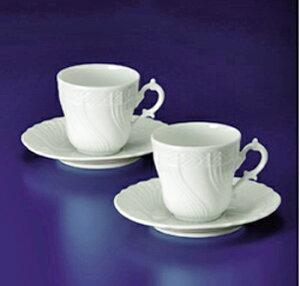 リチャードジノリ(Rechard Ginori)ベッキオホワイト ペアコーヒーカップ&ソーサー(L)(A01021P)【ブランド食器/コーヒー碗/ギフトセット】