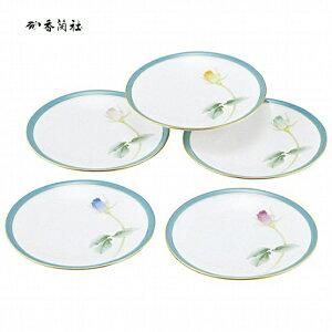 香蘭社 ブライトローズ 銘々皿揃(IB41195-FA) 【有田焼/ブランド/和皿/和食器/中皿/ギフト/結婚祝い/内祝い】