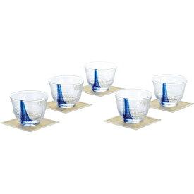 【冷茶グラスセット】東洋佐々木ガラス 〈流舞〉 冷茶5客セット G074-T311【冷茶グラス/冷茶セット/冷茶碗/5客揃/おしゃれ/モダン/来賓用/日本製/ギフト】