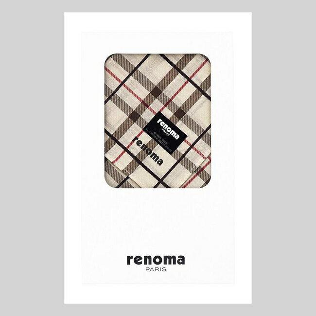 レノマ renoma 紳士ハンカチ ベージュ REG0552 【メンズ/ブランド/ハンカチ/ギフト】