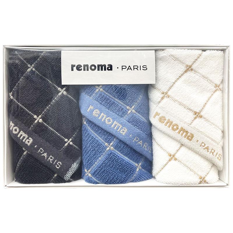 レノマ renoma 紳士ハンカチ3枚セット REG15200 【メンズ/ブランド/ハンカチ/ギフト/男性/おしゃれ/御礼/御挨拶/お餞別/プレゼント】