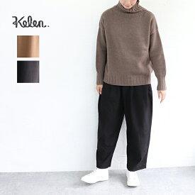 """【スーパーSALE連動ポイント10倍】【送料無料】kelen(ケレン)サイドラウンドトラウザーパンツ""""Sabo wool"""""""