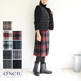 【送料無料】O'NEIL OF DUBLIN(オニールオブダブリン)ミディアム丈キルトスカート///