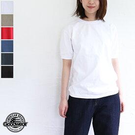 【2021SS新色入荷】【ゆうパケット対応】GOODWEAR(グッドウェア)CREW-NECK S/SL TEE CUFF AND HEM RIB リブデザイン半袖Tシャツ