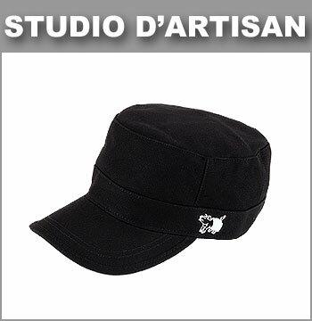 ■ STUDIO D'ARTISAN(ダルチザン キャップ) [7222] WORK CAP(ブタ君刺繍 ワークキャップ)(帽子/デニム/ヒッコリー/キャンバス)
