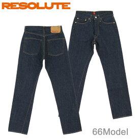 ■ RESOLUTE(リゾルト 66モデル ジーンズ) 710-94 (ワンウォッシュ) [28〜34inch](66model JEANS/日本製/林さん)(710-2-94/710-4-94/710-6-94)