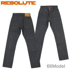 ■ RESOLUTE(リゾルト 66モデル ジーンズ)[28〜34inch] (ノンウォッシュ)(JEANS/日本製/710-4-95/710-6-95/林さん)(セルビッチ/66タイプ/リジッド/710-95)