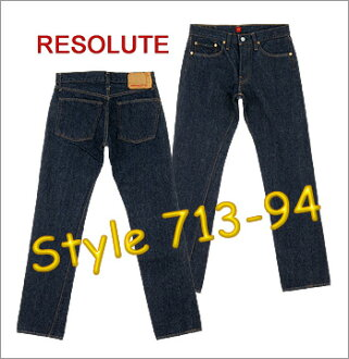 ■ RESOLUTE JEANS (resolute 66model) [713-94] [36inch] (Washed) / Lowrise Tight Fit Straight ☆ Reproduce the 1960's Denim ☆ [Made in JAPAN] (66model 66 Low jeansn)