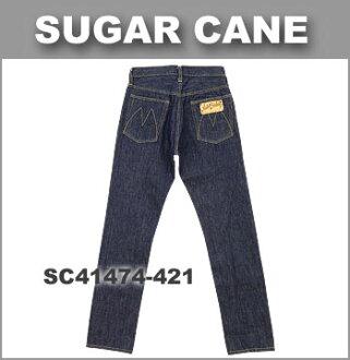 Mister Freedom(先生自由)x SUGAR CANE(shugaken)[SC41474]Lot.74 CALIFORNIAN紧凑的笔直牛仔裤(东洋企业/美国制造/MFSC/糖果舵/12.5oz CONE DENIM/gurippajippafurai/uosshudo)