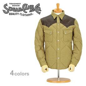 ■ SUGAR CANE(シュガーケーン) 【SC12833】レザーヨーク・ウエスタン ダウンジャケット (アウター/ジャケット/東洋エンタープライズ)