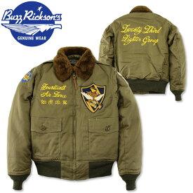 """BUZZ RICKSON'S (バズリクソンズ) B-10 フライトジャケット """"23rd FIGHTER GROUP"""" [BR14189](メンズ ジャケット ミリタリージャケット ミリタリー フライングタイガース)"""
