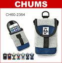 ■ CHUMS (チャムス) スマホケース [CH60-2364] モバイル パッチドケース スウェット×ナイロン(iPhone 6 6S 対応/小物入れ/ケー...