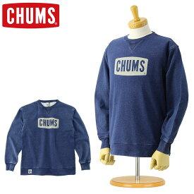 チャムス CHUMS スウェット トレーナー [CH00-1096] ボートロゴ クルートップ インディゴ (クルーネック スウェットトレーナー 裏起毛 メンズ おしゃれ かわいい デニム風 S M L XL)