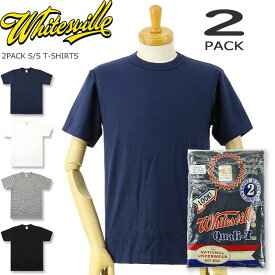 WHITESVILLE (ホワイツビル) 2パック 半袖Tシャツ [WV73544](2枚セット/2枚組/半袖/Tシャツ/メンズ/日本製/東洋エンタープライズ)