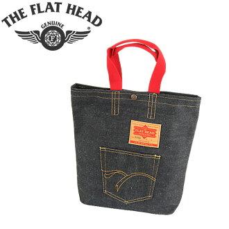 ■ THE FLAT HEAD (flat head) ☆ Selvage Denim Tote Bag (DENIM TOTE BAG) (Made in Japan)