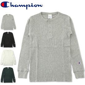 CHAMPION (チャンピオン) ヘンリーネック サーマル ロングスリーブ Tシャツ [C3-E431](ベーシック/長袖Tシャツ/ロンT/ワッフル/メンズ/おしゃれ)
