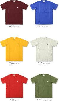 CHAMPION(チャンピオン)ベーシックワンポイントロゴ刺繍Tシャツ[C3-P300](半袖Tシャツ/メンズ/レディース/おしゃれ/ストリート/スポーツ/アメカジ/SST)【ゆうメールなら送料→180円】