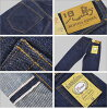 牛仔裤小岛 (小岛基因) 15 盎司织边粗斜纹棉布牛仔裤直筒洗一洗牛仔裤 (日本制造 / 冈山 / 小岛 / 牛仔裤 / 休闲 /KOJIMA 牛仔裤/rnb108r)。