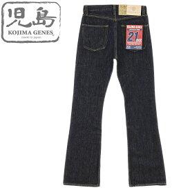 児島ジーンズ (KOJIMA GENES)[RNB-1221B] 21oz ブーツカット デニム (ワンウォッシュ ヘビーオンス 日本製 メンズ ジーンズ 岡山 児島 バイカー RNB1221B おしゃれ)