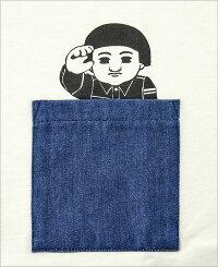 桃太郎ジーンズ(MOMOTAROJEANS)ポケット桃太郎Tシャツ[07-066](半袖TシャツポケットTシャツポケT出陣おしゃれ日本製メンズアメカジももたろうモモタロウ)