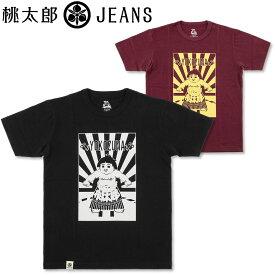 桃太郎ジーンズ (MOMOTARO JEANS) 横綱 プリント Tシャツ [07-085](半袖Tシャツ 半袖 おしゃれ 日本製 メンズ アメカジ ももたろう モモタロウ)