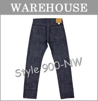■ WAREHOUSE(服装房屋)[900-NW]☆13.5oz. Lot 900牛仔裤☆(锥形纤细)(无洗涤/再纪德/粗斜纹布/serubitchi)(牛仔裤/G面包/日本制造)