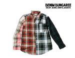 【送料無料】2019S/SDENIMDUNGAREEデニム&ダンガリー792119ホクセツチェックシャツ【130cm~140cm】【91クレイジー】