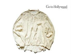 【送料無料】2019 A/W Go to Hollywood ゴートゥーハリウッド 1298102カットボイル ヴィンテージ ブラウス【150cm~160cm】【1 ホワイト】